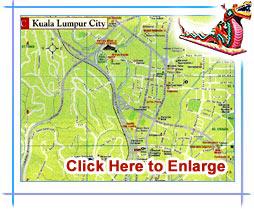 Kuala Lumpur Map Kuala Lumpur City Map Kuala Lumpur Tourist Map